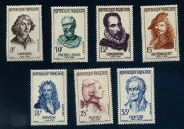 France 1132* à 1138* Célébrités Etrangères Année 1957 Série Goethe - Neufs