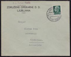 Lubiana (Ljubljana), Cover, Franked With 25 Cent., 1942, Post Office Ljubljana 2 (6) - Lubiana