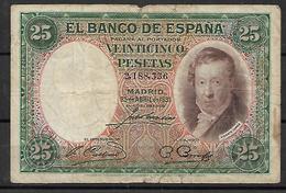ESPAÑA, 1931 - 1-2-5-25 Pesetas