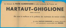 PATES ALIMENTAIRES HARTHAUT-GHIGLIONE FONDEE A LYON EN 1804 / COMPAGNIE DU GAZ DE LYON 1933 - Publicités