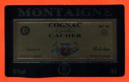 étiquette De Cognac Napoléon Cacher Montaigne à ? - 40°/° - 70 Cl - Labels
