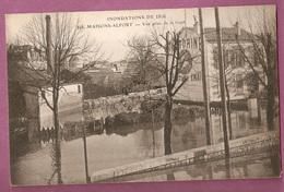 Cpa  Inondations 1910 - Maisons Alfort Vue Prise De La Gare - éditeur ELD - Maisons Alfort