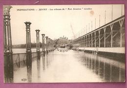 Cpa  Inondations 1910 - Juvisy Les Tribunes De Port Aviation Inondees - éditeur ELD - Juvisy-sur-Orge
