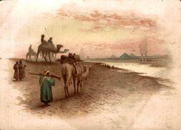 CHROMO SPECIALITE DE BLANC NANCY  PAYSAGE EGYPTIEN LES PYRAMIDES - Chromos