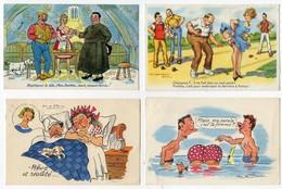 Lot De 6 Cartes Postales Illustrateurs Signés Et Non Signés - Non Classés