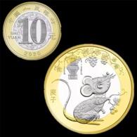 Pre-sale: China 10 Yuan 2020, Year Of The Rat. Zodiacs Coin Bimetallic, NEW - Chine