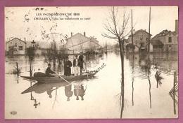 Cpa  Inondations 1910 - Chelles Une Rue Transformee En Canal - éditeur ELD N°799 - Chelles