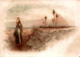 CHROMO SPECIALITE DE BLANC NANCY  PAYSAGE EGYPTIEN  LA PORTEUSE D'EAU - Chromos