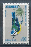 Andorre N°232** Oiseau - Mésange Bleue - Andorra Francesa