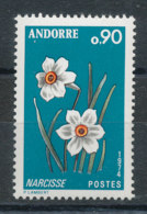 Andorre N°236** Fleur - Narcisse - Andorra Francesa