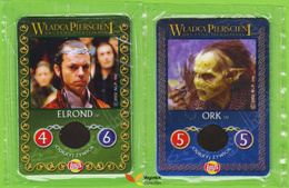 Voyo  LOTR - LAY'S - Two Cards  The Fellowship Of The Ring NEW Both Sides Poland - Lord Of The Rings