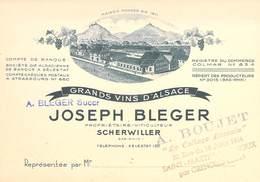 "CPA / CARTE DE VISITE FRANCE 67 ""Scherwiller, Grand Vins D'Alsace, Joseph BLEGER"" - Frankrijk"
