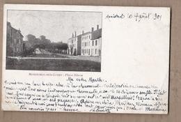 CPA 43 - MONISTROL-SUR-LOIRE - Place Néron - TB PLAN CENTRE VILLAGE Promenade + Détails Maisons Voyagée 1901 - Monistrol Sur Loire