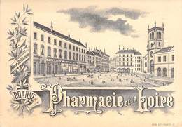 """CPA / CARTE DE VISITE FRANCE 42 """"Roanne, Pharmacie De La Loire, Place Saint Etienne"""" - Roanne"""