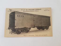 A 2333 - Ateliers Germain Charleroi Wagons à Marchandises Chemin De Fer De Santa Fé - Charleroi