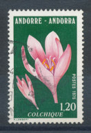 Andorre N°247 Fleur - Colchique - Andorra Francesa