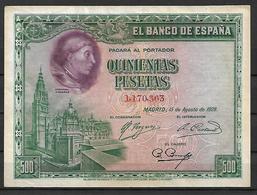 ESPAÑA, 1928 - 500 Pesetas