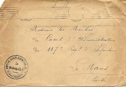 75-cachet Hôpital Comp. N°45 Dit Hôpital Oppenheimer Sur Lettre De Paris En 1915-cachet Très Rare - WW I