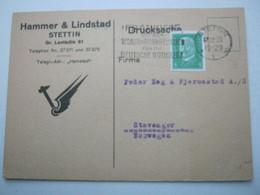 1928 , STETTIN , Firmenkarte - Deutschland