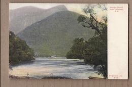 CPA NOUVELLE ZELANDE - George Sound From CATARACT - TB PLAN Cours D'eau + Montagne Bâteau - Nouvelle-Zélande