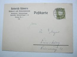 1932 , HEBER, Firmenkarte - Deutschland