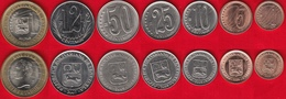 Venezuela Set Of 7 Coins: 1 Centimo - 1000 Bolivar 2007-2012 UNC - Venezuela