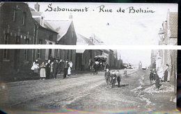SEBONCOURT RUE DE BOHAIN PHOTO CARTE - Other Municipalities
