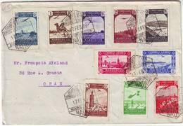 MAROC ESPAGNOL Lettre Pour ORAN 1939 , SPECTACULAIRE Et TTB , MARRUECOS Espana , Spain , Espagne - Spanisch-Marokko