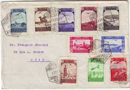MAROC ESPAGNOL Lettre Pour ORAN 1939 , SPECTACULAIRE Et TTB , MARRUECOS Espana , Spain , Espagne - Maroc Espagnol