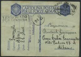 1943 Italia, Franchigia Militare Per Milano (fori Di Spillo) - 1900-44 Victor Emmanuel III