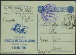 1943 Italia, Franchigia Militare Per Lovere (BG) - 1900-44 Victor Emmanuel III