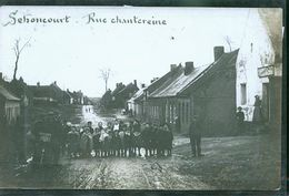 SEBONCOURT RUE DE CHANTEREINE  PHOTO CARTE - Autres Communes