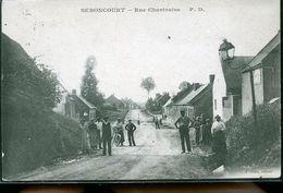 SEBONCOURT RUE DE CHANTRAINE CP CORRESPOND ALLEMANDE - Autres Communes