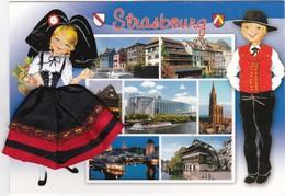 CARTE BORDEE:   STRASBOURG - Brodées