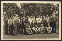 GROEP MET BOOGSCHUTTERS * FOTOKAART * 1954 * TIR A L'ARC * CARTE PHOTO - Tiro Al Arco