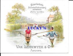 Chromo Van Leckwyck & C° Cafes Torrefiés Anvers  (trace De Papier Collé Au Verso Voir Scanne) - Tea & Coffee Manufacturers