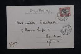 CÔTE DES SOMALIS - Affranchissement De Djibouti Sur Carte Postale En 1905 Pour Bordeaux - L 50345 - Côte Française Des Somalis (1894-1967)