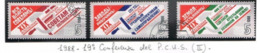 URSS - SG 5960.5962   - 1988 COMMUNIST PARTY CONFERENCE (COMPLET SET OF 3)   - USED° - RIF. CP - Usati
