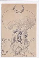 CP DESSIN PORTRAIT D'un Chef Musulman - 1900-1949