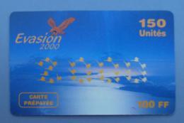 021, Carte Prépayée Evasion 2000 150 Unités 100 FF - Aigle - France