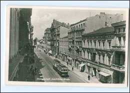 U4784/ Litzmannstadt Lodz Polen  Adolf-H-Straße Straßenbahn Foto AK Ca.1940 - Polonia