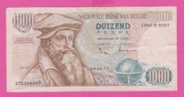 Billet BELGIQUE - 1000 Francs Du  24 01 1973 - Pick 136b - [ 2] 1831-... : Belgian Kingdom