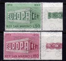 REPUBBLICA DI SAN MARINO 1969 EUROPA CEPT SERIE COMPLETA COMPLETE SET MNH - San Marino
