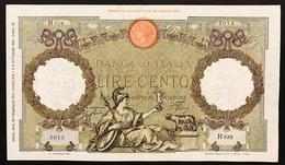 100 LIRE ROMA GUERRIERA FASCIO ROMA 20 02 1941 BIGLIETTO SPIANATO BB+ 2 Piccoli Taglitti In Alto LOTTO 3104 - 100 Lire