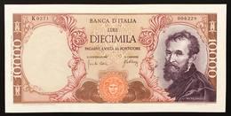 10000 Lire MICHELANGELO 20 05 1966 Sup LOTTO 3098 - [ 2] 1946-… : Républic