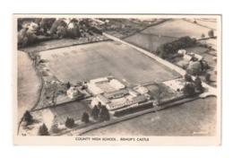 Real Photo Aerial Printof County High School, Bishop's Castle, Shropshire, England, Lot # ETS 1571 - Schools