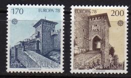 REPUBBLICA DI SAN MARINO 1978 EUROPA UNITA CEPT SERIE COMPLETA COMPLETE SET MNH - San Marino
