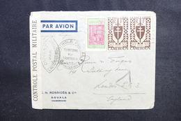 CAMEROUN - Enveloppe Commerciale De Douala Pour Londres Avec Contrôle Postal , Affranchissement Plaisant - L 50369 - Cameroun (1915-1959)