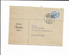 1955 Suisse Hotel Muller BRIG - Postmark Collection