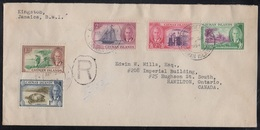 CAYMAN ISLANDS - GEORGETOWN / 1954 REGISTERED COVER TO CANADA (ref 6939) - Great Britain (former Colonies & Protectorates)
